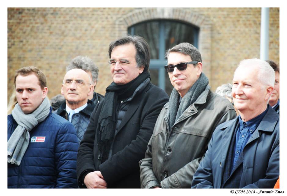 Yvan Franic et Michel Garcin, les deux architectes du Cabinet Asa, très émus sans doute de cette reconnaissance publique d'un travail exceptionnel.