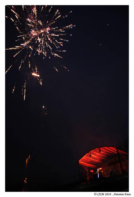 Et un feu d'artifices pour clôturer le concert. On n'en attendait pas moins.